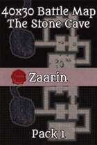 40x30 Fantasy Battle Map - The Stone Cave Pack 1