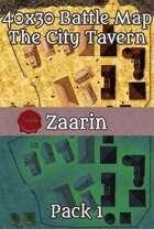 40x30 Fantasy Battle Map - The City Tavern Pack 1