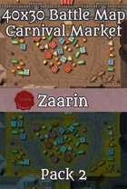 40x30 Fantasy Battle Map - Carnival Market Pack 2 , from $6.99 to $2.99