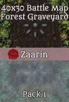 40x30 Fantasy Battle Map - Forest Graveyard Pack 1