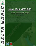 Delta World 5E Map Pack MP-501: Core Guidebook Maps