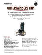 DDAL-DRW-05 Uncertain Scrutiny