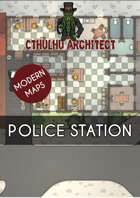 Cthulhu Architect Maps - Police Station - 35 x 23
