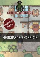 Cthulhu Architect Maps - Newspaper Office - 20 x 20