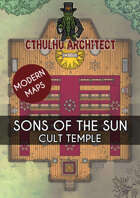Cthulhu Architect Maps - Sons of the Sun - Cult Temple - 20 x 16