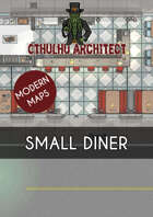 Cthulhu Architect Maps - Small Diner - 25 x 15