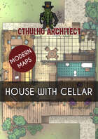 Cthulhu Architect Maps - House with Cellar - 18 x 18