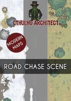 Cthulhu Architect Maps - Road Chase Scene - 50 x 15