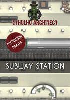 Cthulhu Architect Maps - Subway Station - 34 x 23