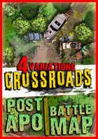 Post apocalyptic Battlemap ☢️ Crossroads