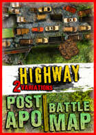 Post-apocalyptic battlemap ☢️ highway [PACK]