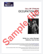 Call of Cthulhu Occupation Kit: Actor