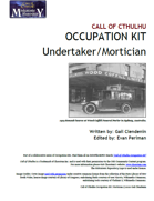 Call of Cthulhu Occupation Kit: Undertaker