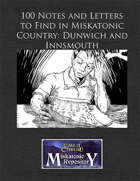 100 Notes and Letters to Find in Miskatonic Country: Dunwich and Innsmouth