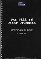 The Will of Oscar Drummond