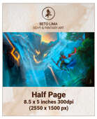 Half Page - Giant Earth Elemental - RPG Stock Art
