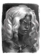 Character Portrait - Dark Elf - RPG Stock Art