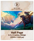 Half Page - Chasing the Floating Land - RPG Stock Art