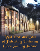 Publishing Under an Open Game License: Pros and Cons , from $14.99 to $9.99