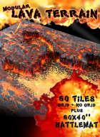 Modular Lava Tiles - Basic Set (60 tiles + pre-made Battlemat)
