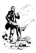 Post-Apocalypltic Mephistopheles Sinister Man in Suit