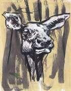 Red Deer original creature/animal art painting portrait