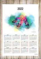 2022 Yearly Dice Calendar (Print-friendly PDF)
