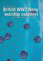 British Navy WW2 warship hex counters