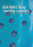 USA Navy WW2 warship hex counters