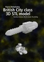 City class battlecruiser 3D STL model