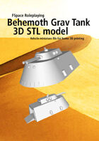 Behemoth Extra Large Grav Tank 3D STL model