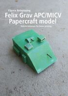 Felix Grav APC/MICV Papercraft model