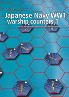 Japanese Navy WW1 warship hex counters 1