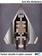Parker Shuttle 4 cabin deckplan sheet