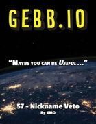 Gebb 57 – Nickname Veto