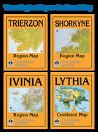 HarnWorld Three Region Maps and Lythia Continent Map [BUNDLE]