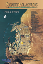 Per-Bastet Poster Map for Southlands Campaign Setting