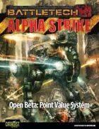 BattleTech: Open Beta - Alpha Strike Point Value System