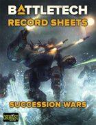 BattleTech: Record Sheets: Succession Wars