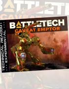 BattleTech: Experimental Technical Readout: Caveat Emptor