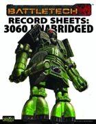 BattleTech: Record Sheets: 3060 Unabridged
