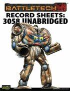 BattleTech: Total Warfare Style Record Sheets: 3058 Upgrade Unabridged Inner Sphere