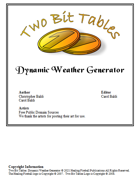Two Bit Tables: Dynamic Weather Generator