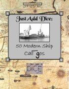 Just Add Dice: 50 Modern Ship Cargos
