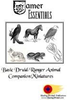 Gamer Essentials: Basic Druid/Ranger Animal Companion Miniatures