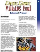 Capes, Cowls and Villains Foul -- Quickstart Preview