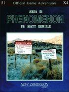 Phenomenon: Area 51--Adventure pack X4
