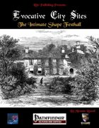 Evocative City Sites: The Intimate Shape Festhall