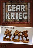 Gear Krieg: US Walker Compendium I - General Early