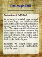 Grimoire- Spell Cards for Advanced Song of Blades and Heroes